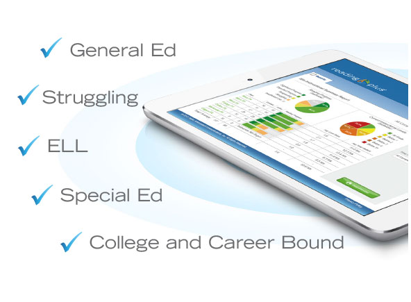 It helps general education, struggling, ELL, special ed, and college and career bound students.