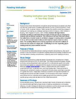 Reading Motivation and Reading Success